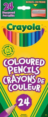 Crayola 24 Coloured Pencils - image 1 of 1