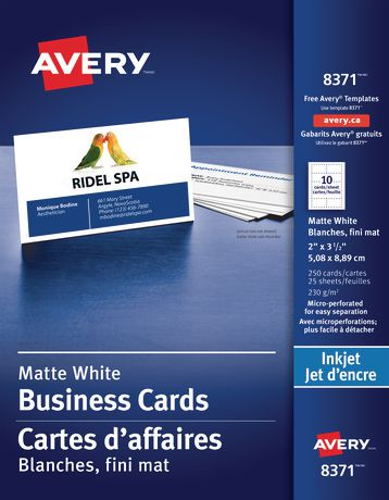 Avery perforated business cards walmart canada reheart Choice Image