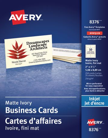 Avery micro perforated business cards walmart canada reheart Images