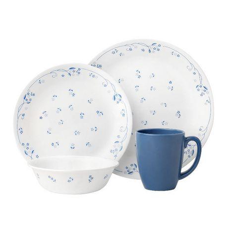 sc 1 st  Walmart Canada & Corelle® Provincial Blue Dinnerware Set 16pc | Walmart Canada