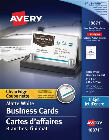 Avery clean edge business cards for inkjet walmart canada avery clean edge business cards for inkjet reheart Gallery