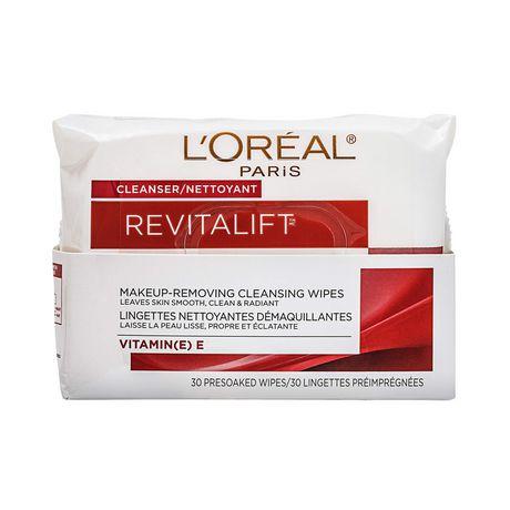 L'Oréal Paris Revitalift Lingettes Nettoyantes Démaquillantes, 30 lingettes - image 1 de 7