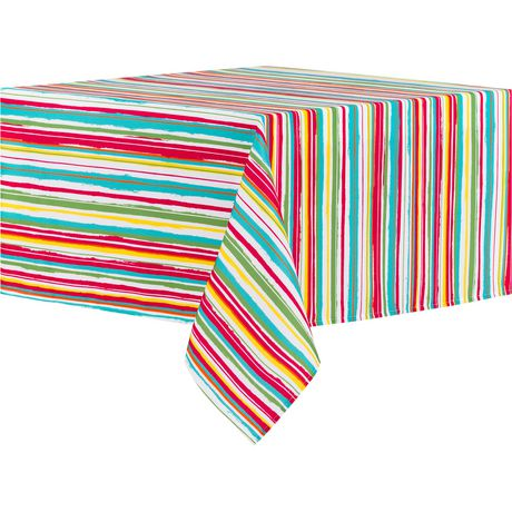 "hometrends Striped Fabric Tablecloth 60""X84"" - image 1 of 1"