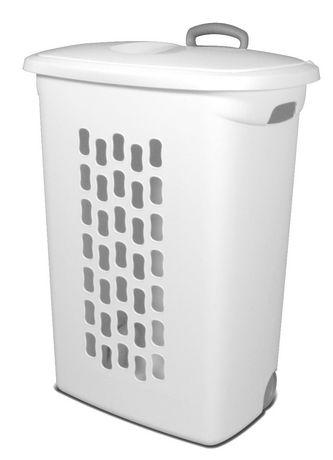 sterilite ultra white wheeled hamper walmart canada. Black Bedroom Furniture Sets. Home Design Ideas
