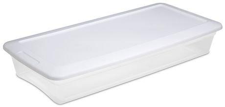 bo te de rangement sous le lit de sterilite de 39 litres. Black Bedroom Furniture Sets. Home Design Ideas