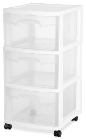Sterilite 3 Drawer White Cart  sc 1 st  Walmart Canada & Sterilite 3 Drawer White Cart | Walmart Canada