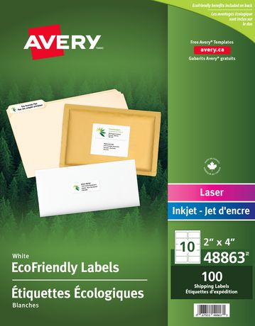 avery eco friendly shipping labels walmart canada