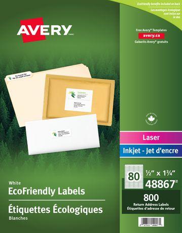 avery eco friendly return address labels walmart canada
