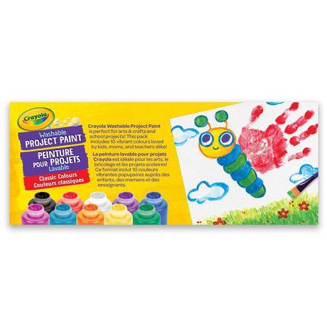 10 pots de peinture lavable Crayola - image 2 de 2
