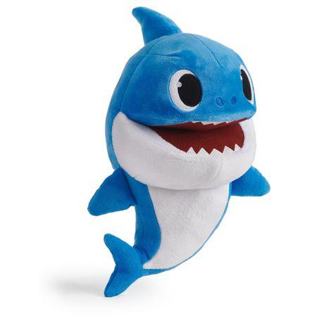 Pinkfong Baby Shark - Marionnettes musicales à vitesse contrôlée - Daddy Shark - Peluche préscolaire interactive - par WowWee - image 2 de 5
