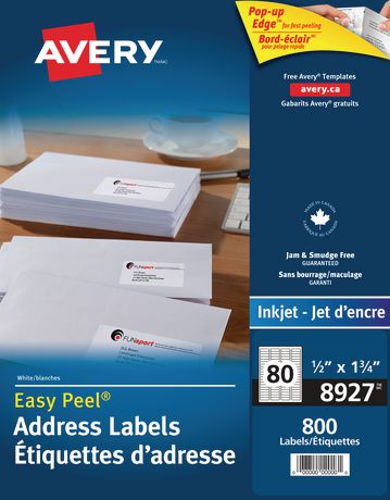 Avery Address Labels Walmart Canada