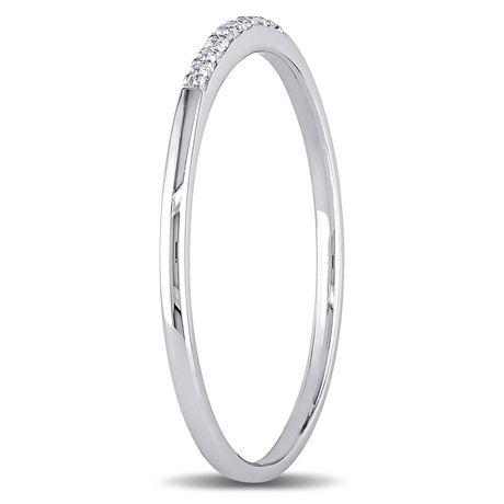Miabella Diamond-Accent 10 K White Gold Ring - image 2 of 5