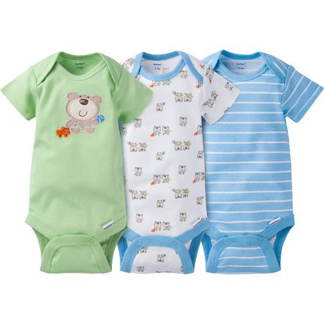 Gerber Chidrenswear Onesies 174 Newborn Boys Fashion Short