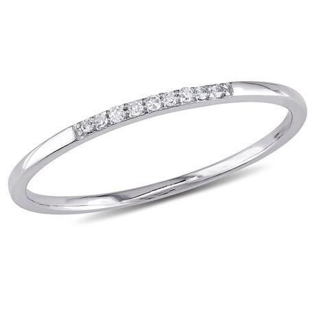 Miabella Diamond-Accent 10 K White Gold Ring - image 1 of 5