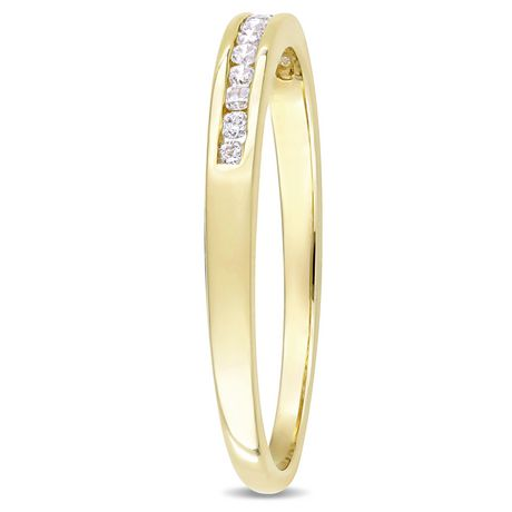 Miabella 1/8 Carat T.W. Diamond 10 K Yellow Gold Semi-Eternity Ring - image 2 of 5