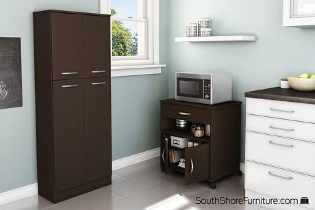 rangement micro ondes sur roulettes collection fiesta de meubles south shore walmart canada. Black Bedroom Furniture Sets. Home Design Ideas