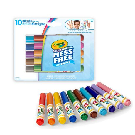 Crayola Color Wonder Classic Mini Markers Interactive Colouring Book ...