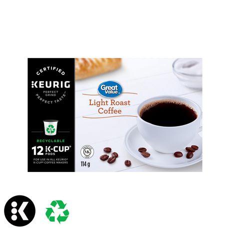 Dosettes K-Cup de café Great Value, torréfaction légère - image 1 de 7