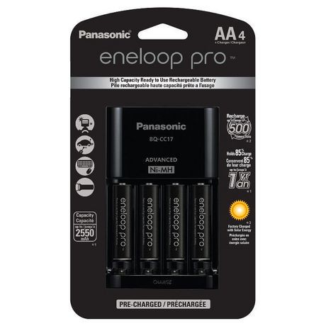 Panasonic Eneloop Pro Charger With 4 Pre Charged