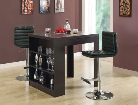 table de salle manger de hauteur comptoir monarch specialties en cappuccino walmart canada. Black Bedroom Furniture Sets. Home Design Ideas
