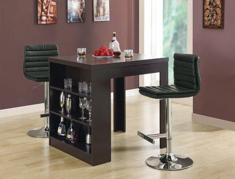 Table de salle manger de hauteur comptoir monarch for Hauteur table salle manger standard