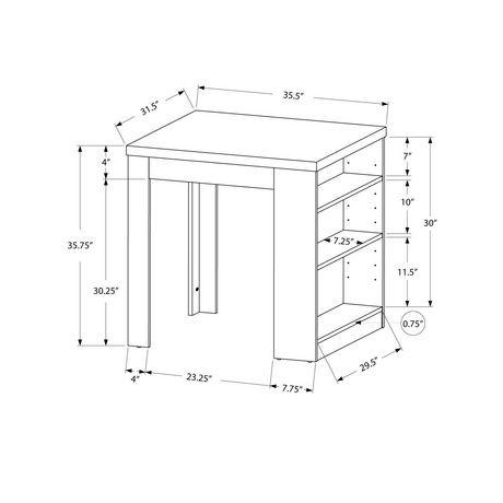 Table de salle manger de hauteur comptoir monarch for Hauteur comptoir de bar