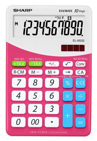 Calculatrice SHARP ELM332BPK - image 1 de 2
