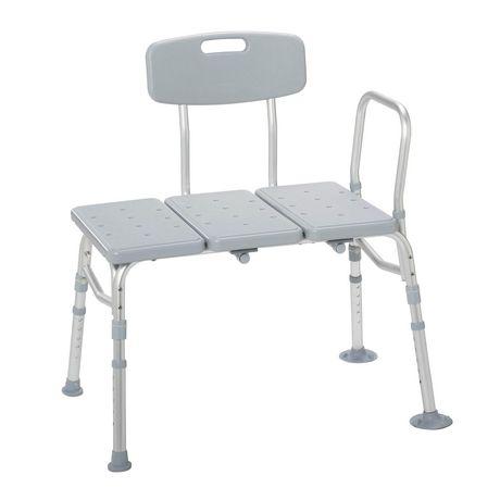 Drive Medical Plastic Tub Transfer Bench with Adjustable Backrest - image 1 of 3