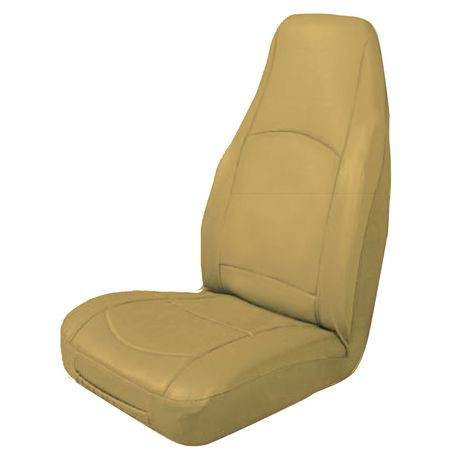 Masque High Back Leather Tan Seat Cover