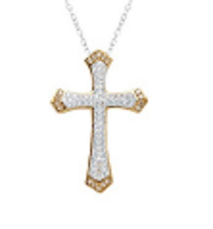 Luminesse collection sterling silver crystal cross pendant luminesse collection sterling silver crystal cross pendant swarovski elements in luminesse walmart canada aloadofball Images