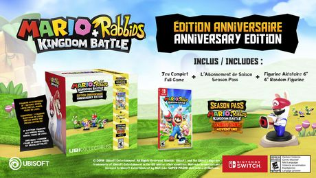 a267ca007ce9 Ubisoft Mario + Rabbids Kingdom Battle Anniversary Edition Walmart  Exclusive (Nintendo Switch) (includes ...
