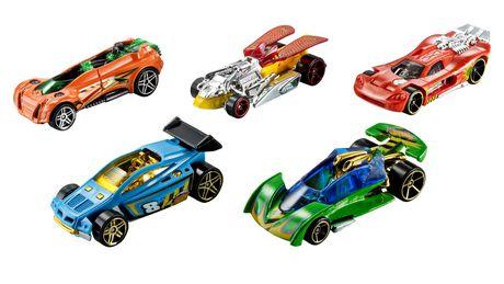 ens de 5 voitures hot wheels