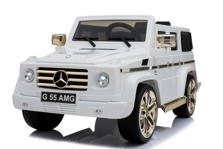 Kool Karz G55 Amg Electric Ride On Toy Car White Gold Special