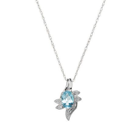 birthstone with diamond and inches heart rhodium watches sterling fremada accent pendant silver jewelry plated necklace product