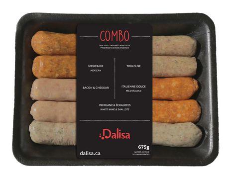Saucisses conservées non cuites Dalisa en combo de 5 saveurs - image 1 de 3