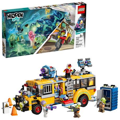 LEGO® Hidden Side™ Paranormal Intercept Bus 3000 70423 Building Kit, School Bus Toy for 8+ Year Old Boys and Girls, Interactive Augmented Reality Playset (689 Pieces) - image 1 of 6