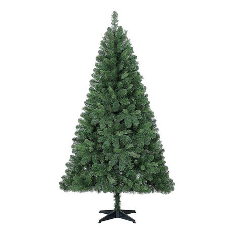 Holiday Time Jackson 6.5' Regular Full Spruce Christmas Tree, Green