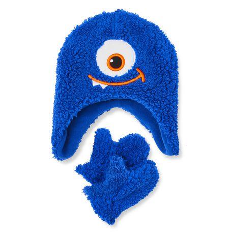 62bca845dd6 George Toddler Boys  Monster Hat with Gloves Set - image 1 ...