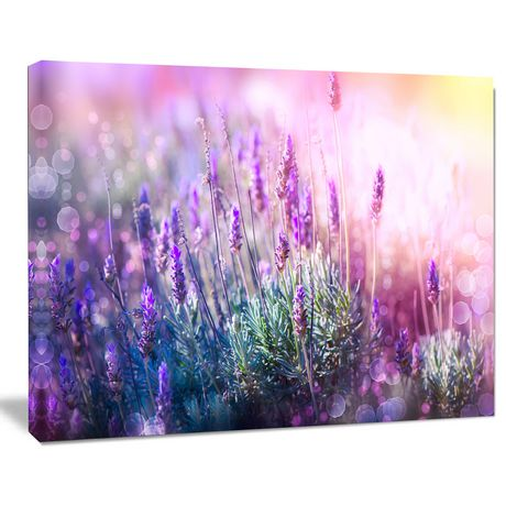 Design Art Growing And Blooming Lavender Floral Photo Canvas Art Print - image 1 of 2