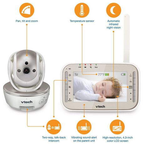 VTech® VM343 Safe&Sound® Full Colour Video And  Audio Baby Monitor - image 3 of 3
