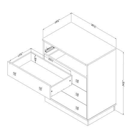 Commode à 4 tiroirs de la collection Logik de Meubles South Shore - image 7 de 8