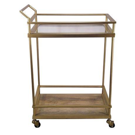 hometrends Gold Bar Cart - image 1 of 4
