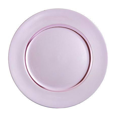 hometrends Pink Charger Plates - image 1 of 1