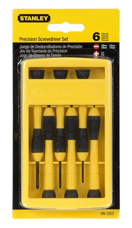 stanley 6 piece precision screwdriver set 66 052 walmart canada. Black Bedroom Furniture Sets. Home Design Ideas