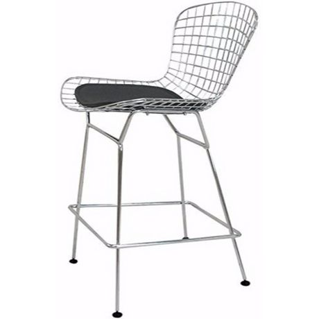 Surprising Nicer Furniture Bertoia Black Counter Stool Beatyapartments Chair Design Images Beatyapartmentscom