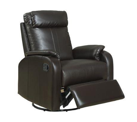 Chaise ber ante inclinable et pivotante monarch en cuir for Chaise bercante walmart