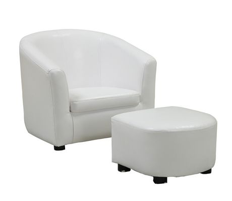 Monarch Specialities Leather-Look Juvenile Chair/Ottoman