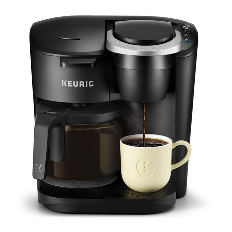 Black coffee brewer machine from Keurig K-Duo