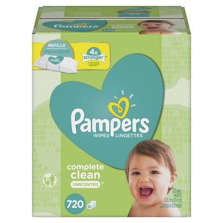 Pampers Wipes Complete Clean Unscented 10X Refills 720 Count - image 1 of 7