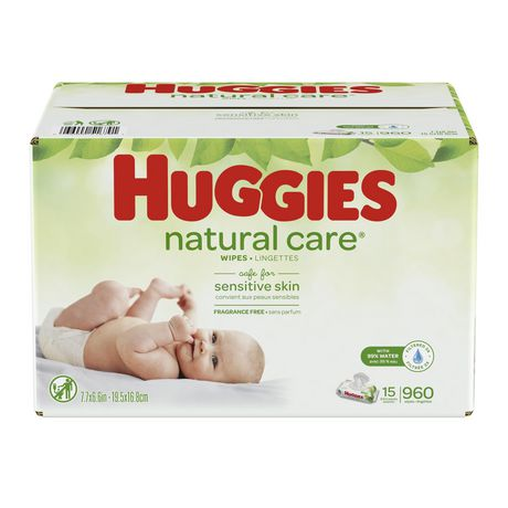 HUGGIES Natural Care Unscented Baby Wipes, Sensitive - image 1 of 4